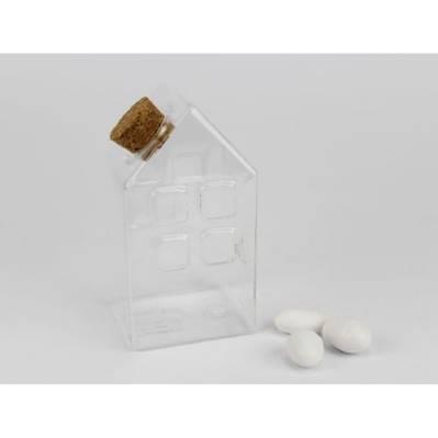 Casetta vuota in vetro per confetti