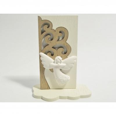Pannello Albero della vita in legno con icona Angelo- Collezione 2020