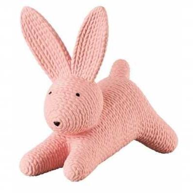 Rosenthal - Coniglio grande rosa sdraiato in porcellana - RABBITS