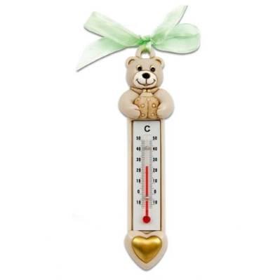 Bomboniera termometro orsetto con coccinella battesimo - Memory 2016