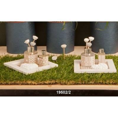 Profumatore di ambienti tema fiori con base legno