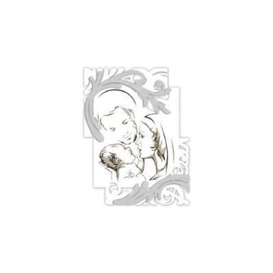 Pannello laser stilizzato con Sacra Famiglia - Laser Art Style