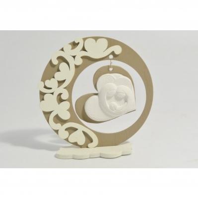 Icona Sacra Famiglia in gesso con supporto in legno - Collezione 2020
