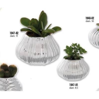 Vaso porta piante con pianta naturale