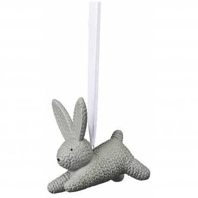 Rosenthal - Pendente coniglio piccolo grigio in porcellana - RABBITS