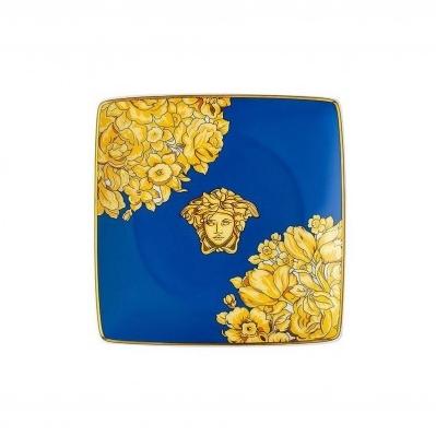 Versace Medusa Rhapsody Blue Coppetta quadra piana 12cm