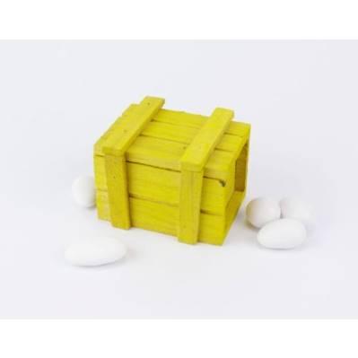 Baule legno colorato porta confetti per Comunione / Nozze- Linea 2 Elle
