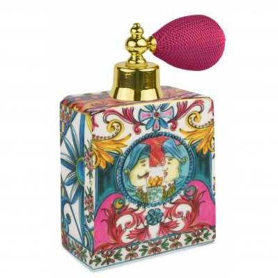 Bottiglia spray da collezione sicilia rosa Baroque&Rock - Baci Milano
