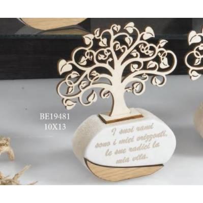 Diffusore di fragranza albero della vita con scritta - Magnolia