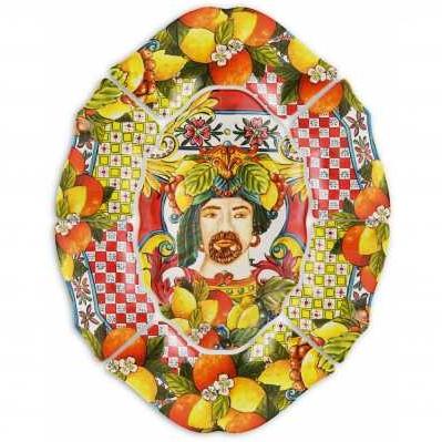 Antipastiera da collezione sicilia rossa Baroque&Rock - Baci Milano