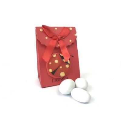 Scatolina portaconfetti con coccinella