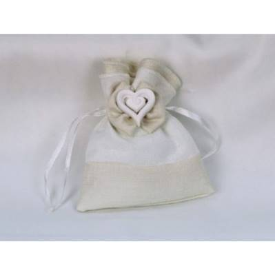Sacchetto portaconfetti doppio tessuto piccolo