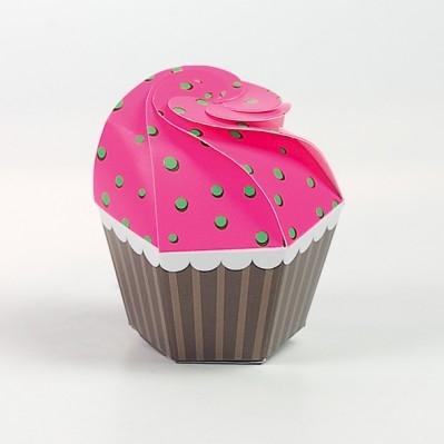 Cupcake fluo fuxia/verde