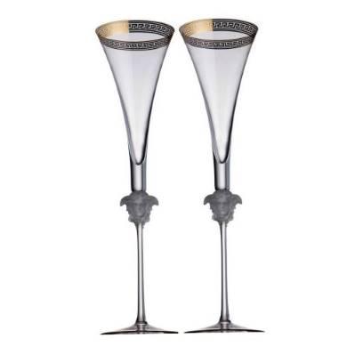 Set 2 Calici Flute MEDUSA D'OR Rosenthal Versace