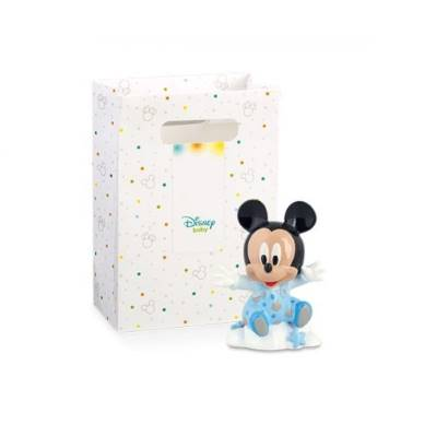 Bomboniera Disney in resina topolino azzurro su nuvola con scatola