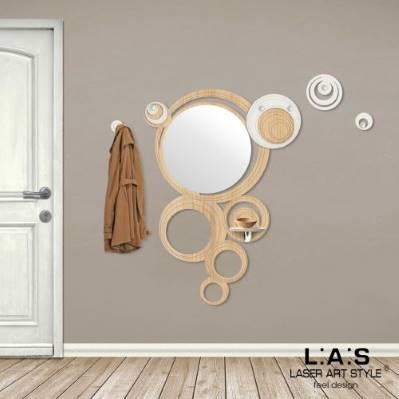Specchiera Moderna a cerchi e appendi abiti