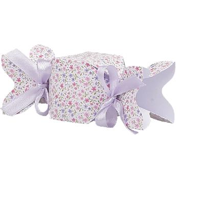 Caramella fiorellini rosa/lilla con stelo