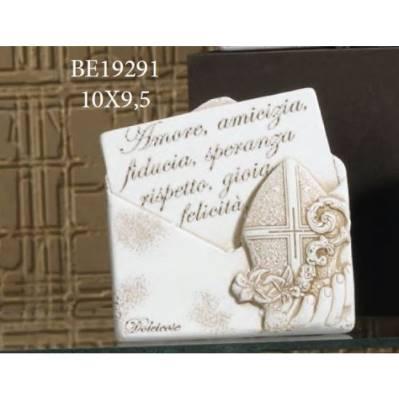 Pannello scritte con Mitra Cresima busta - Maria
