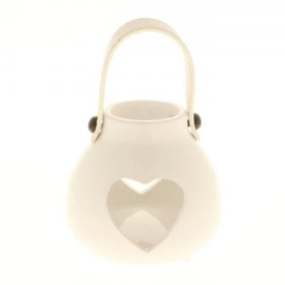 Lanterna artistica con cuore 10cm