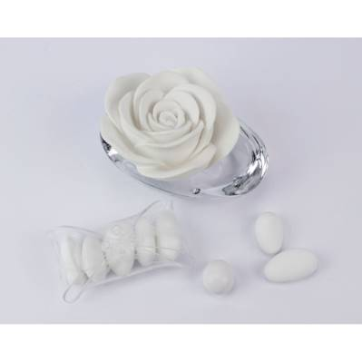 Profumatore Ovale Rosa Cristalli Claraluna - Bomboniera Matrimonio / Comunione 2016