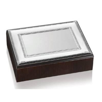 Scatola linea Luxury con placca in metallo argentato - Atelier