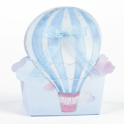 Scatolina azzurra mongolfiera