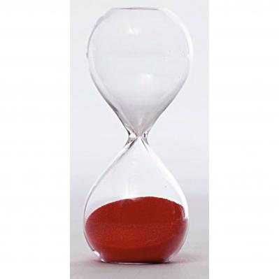 Clessidra in vetro piccola 3 minuti rosso - TEMPO