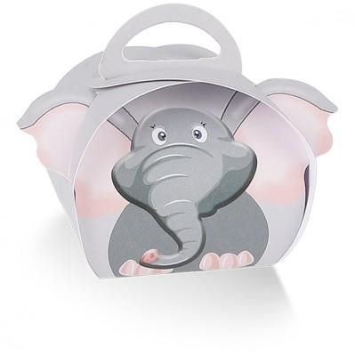 Scatola portaconfetti elefante