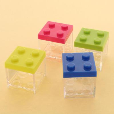 Scatolina per confetti in plexiglass stile Lego