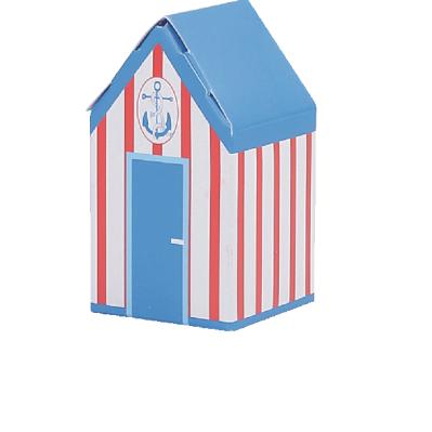 Cabine doghe rosse, tetto blu