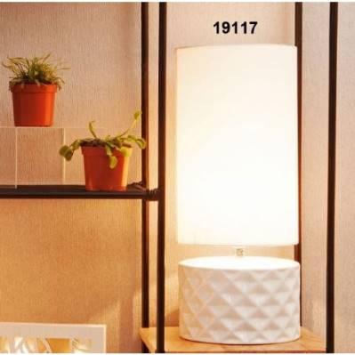 Lampada Cilindro base in porcellana