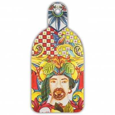 Tagliere medio da collezione sicilia rossa Baroque&Rock - Baci Milano