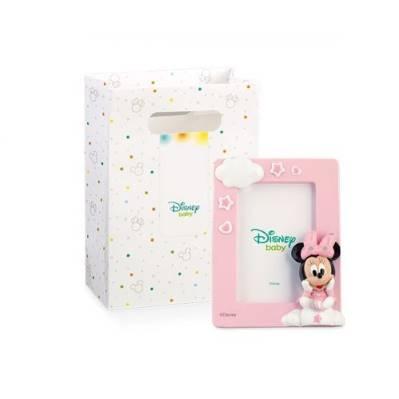 Bomboniera Disney in resina Minnie rosa portafoto