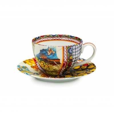 Set 2 tazze caffè con piattino Santa Rosalia - Palais Royal