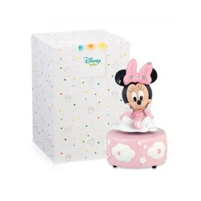 Bomboniera Disney in resina Minnie rosa carillon
