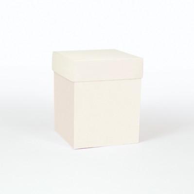 Scatolina fondo e coperchio crema 12x12x15