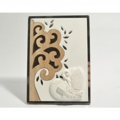 Pannello Albero della vita in legno e specchio con Cresima- Collezione 2020