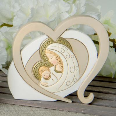 Icona in resina Cuore Maternità