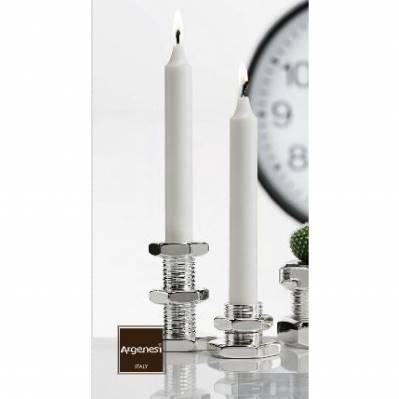 Candeliere bullone BOLT rivestito in argento - bomboniere nozze Argenesi