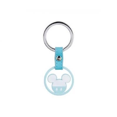 Bomboniera Disney in resina topolino azzurro portachiavi