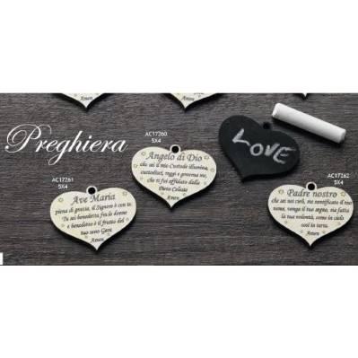 Addobbo con preghiera forma cuore Preghiera