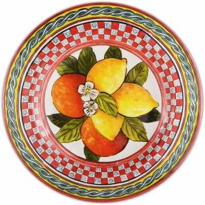 Piatto dessert da collezione sicilia rossa Baroque&Rock - Baci Milano