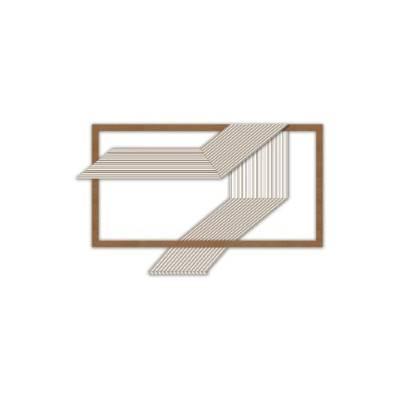 Quadro stilizzato rettangolare figure geometriche - Laser Art Styl