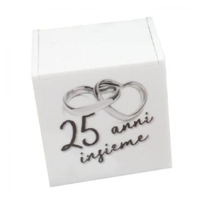 Scatolina per confetti 25esimo Nozze D'argento