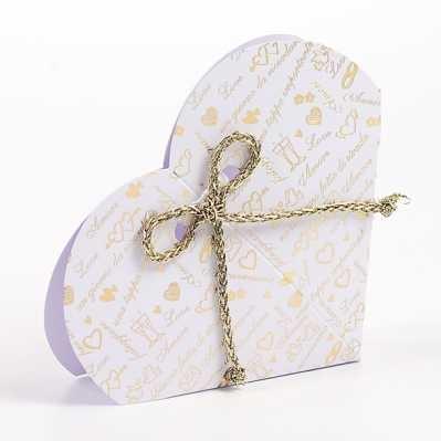 Scatolina cuore portaconfetti nozze d'oro