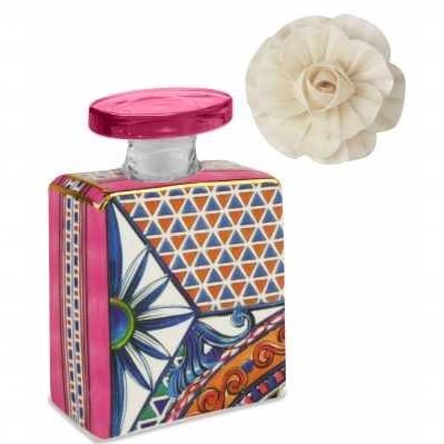 Bottiglia Mini da collezione sicilia rosa Baroque&Rock - Baci Milano