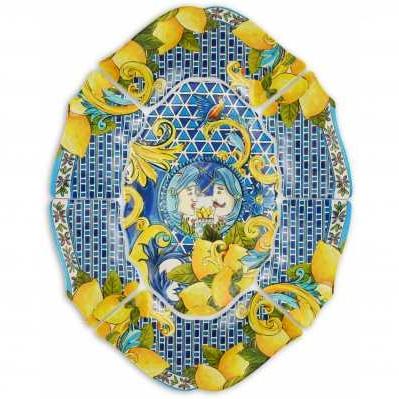 Antipastiera da collezione sicilia bluu Baroque&Rock - Baci Milano