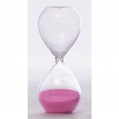 Clessidra in vetro piccola 3 minuti rosa - TEMPO