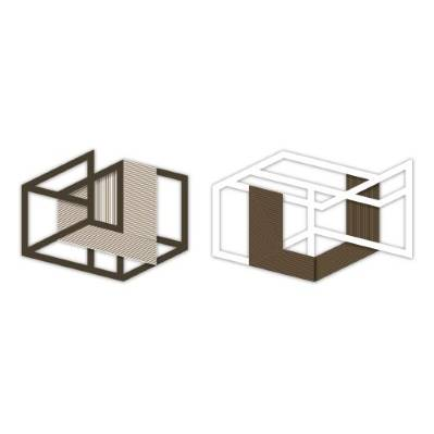 Doppio Pannello laser con figure geometriche 3D - Laser Art Styl
