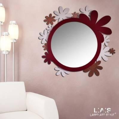 Specchio dal design moderno - Laser Art Style
